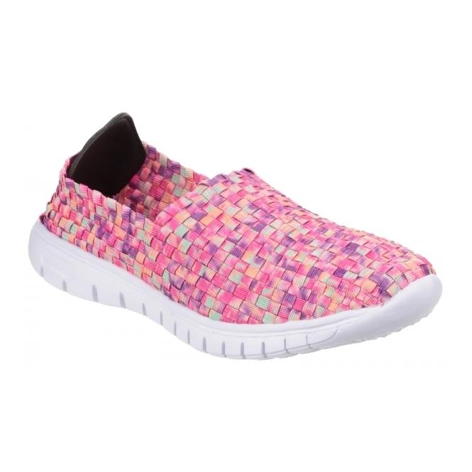Divaz RAFT Ladies Slip-On Walking Trainers Light Pink