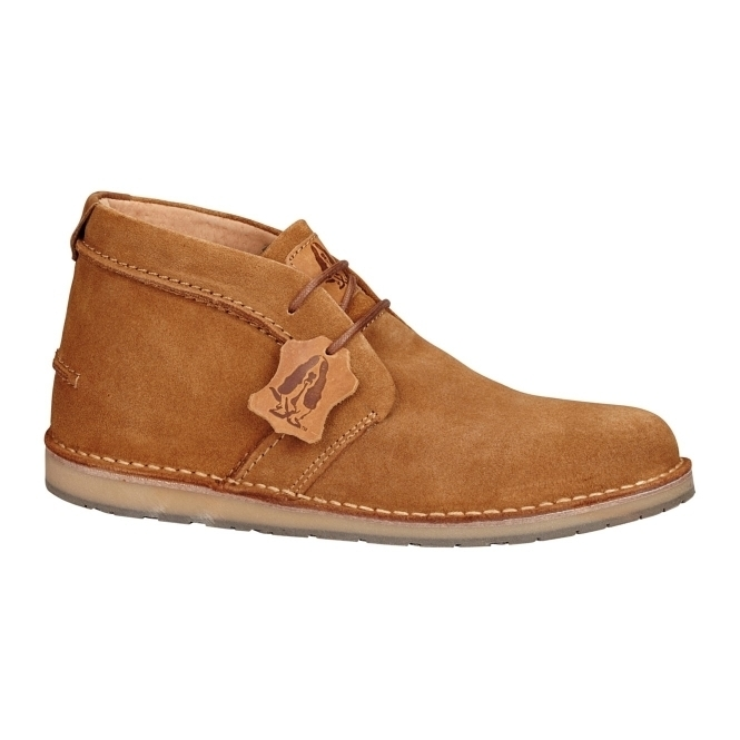 Hush Puppies CURTIS Mens Suede Desert Boots Tan