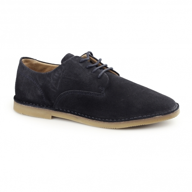 Hush Puppies GRANT Mens Suede Desert Shoes Navy