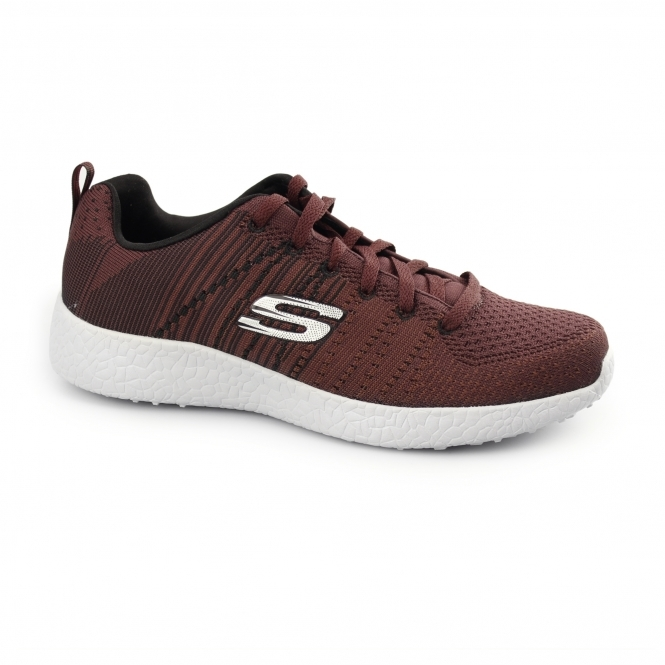 Skechers BURST - IN THE MIX Mens Sports Trainers Burgundy