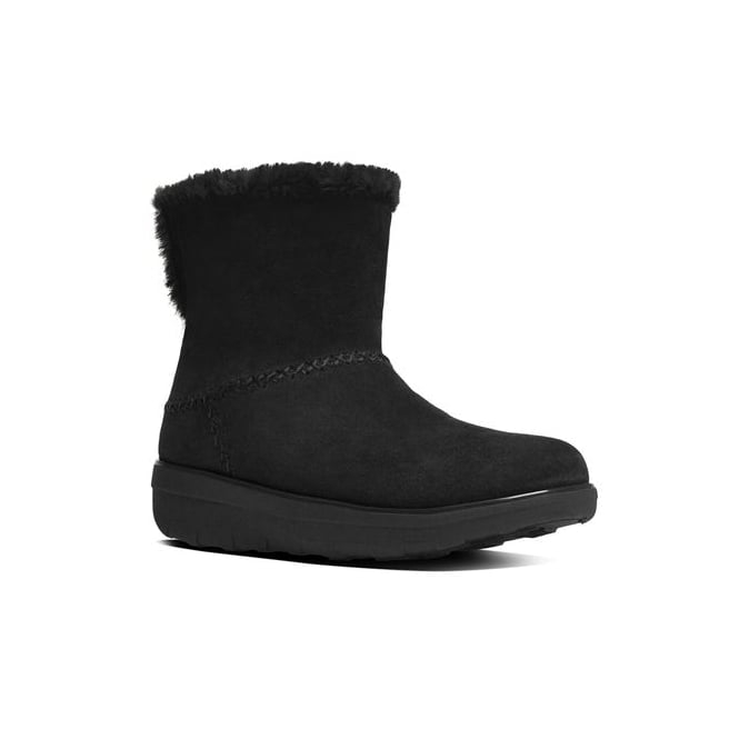 FitFlop™ MUKLUK SHORTY™ II Ladies Suede Warm Boots Black