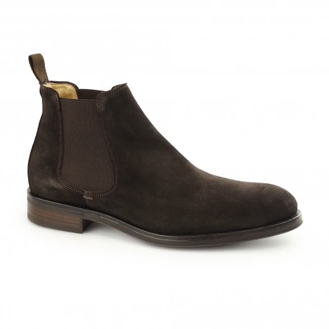 John White PORTCHESTER Mens Suede Chelsea Boots Brown