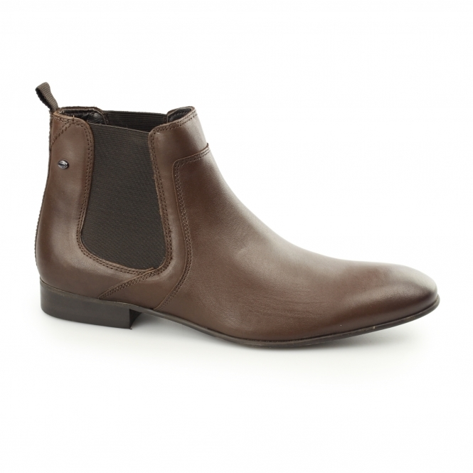 Base London FORBES SOFTY Mens Leather Chelsea Boots Brown