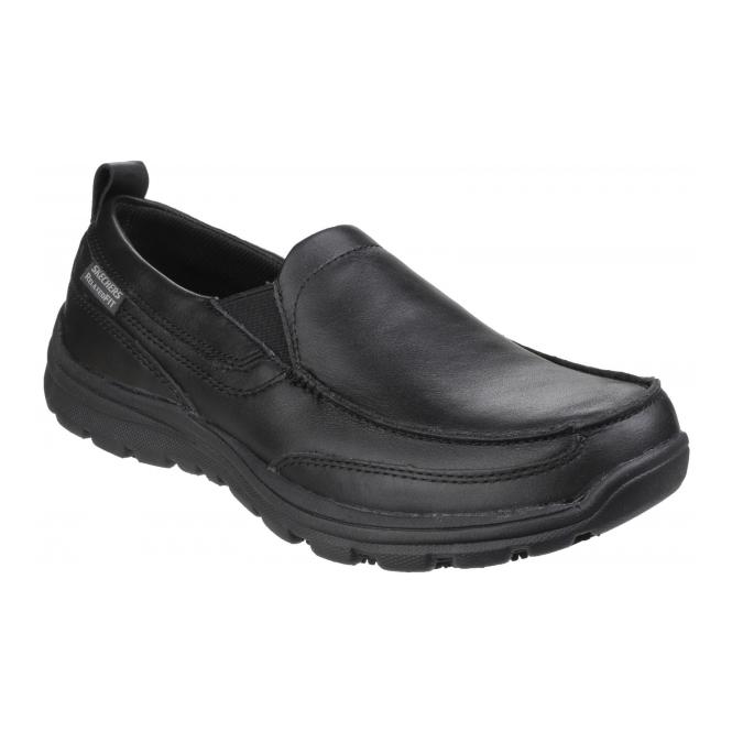 Skechers WORK: RELAXED FIT - HOBBES SR Mens Shoes Black