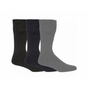 HARPER Mens Cotton Socks 3 Pack Grey