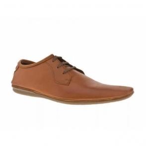 TALON Mens Leather Lace-Up Chisel Toe Shoes Tan