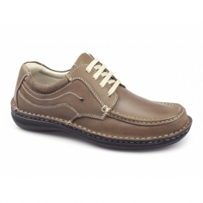 JUPITER Mens Leather Lace Up Shoes Tan
