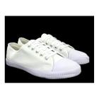 DEK Senior Retro Toecap Lace Plimsolls White