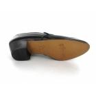 Shuperb NASSER Mens Soft Leather Plain Cuban Heel Shoes Black