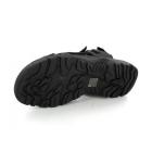 PDQ ROLAND Mens Faux Suede Triple Velcro Sports Sandals Black