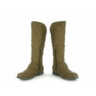 Claudia Ghizzani MONICA Womens Fur Lined Knee High Riding Boots Taupe