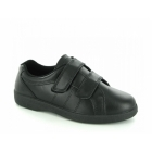 Boulevard NAPOLI Ladies Velcro Wide E Fit Leather Shoes Black
