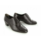 Shuperb DIEGO Mens Soft Leather Lace Up Cuban Heel Oxford Shoes Brown