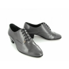 Shuperb DIEGO Mens Soft Leather Lace Up Cuban Heel Oxford Shoes Grey