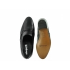 Shuperb ALVEZ Mens Soft Leather Reptile Cuban Heel Shoes Black