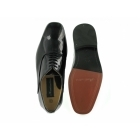 Montecatini Mens Patent Leather Evening Oxford Shoes Black (Wide Fit)