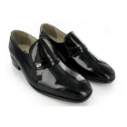 Montecatini Mens Patent Leather Slip-On Evening Shoes Black