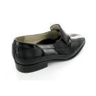Montecatini Mens Patent Leather Slip-On Evening Shoes Black (Wide Fit)