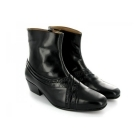 Montecatini ARTURO Mens Cuban Heel Reptile Leather Boots Black