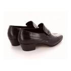 Shuperb KIKO Mens Soft Leather Reptile Cuban Heel Shoes Brown