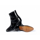Shuperb ENRIQUE Mens Cuban Heel Reptile Leather Boots Black
