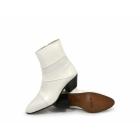 Shuperb ENRIQUE Mens Cuban Heel Reptile Leather Boots White