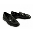 Ikon SELECTA Mens Polished Leather Tassel Loafers Black