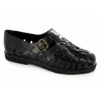 Gordini SHANE Mens Interlaced Leather Sandals Black