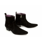 Gucinari OLIVIER Mens Suede Winklepicker Boots Black