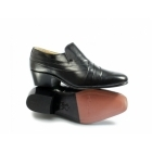 Montecatini CARLOS Mens Soft Leather Pleated Cuban Heel Shoes Black