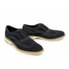 Gucinari CISSE Mens Suede Leather Brogue Shoes Navy