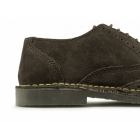 Roamers COLE Mens Suede Leather Brogue Shoes Dark Brown