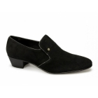 Shuperb NASSER Mens Suede Leather Plain Cuban Heel Shoes Black