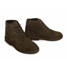 Roamers Mens 5 Eyelet Suede Leather Desert Boots Dark Brown