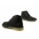 Roamers LEONARD Mens Square Toe Waxy Leather Desert Boots Black