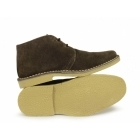 Roamers Mens 2 Eye Shaped Toe Suede Leather Desert Boots Brown