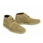 Roamers Mens 2 Eye Shaped Toe Suede Leather Desert Boots Sand