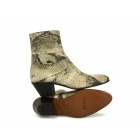 Shuperb GUILLERMO Mens Cuban Heel Snakeskin Leather Boots Natural