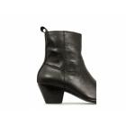 Paolo Vandini VEER XII Mens Leather Winklepicker Cuban Heel Boots Black