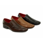 Giovanni GORDON Mens Faux Leather Slip On Shoes Black