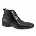 Gucinari BLAINE Mens Leather Brogue Chukka Boots Black