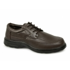 Dr Keller FREDDY Mens Lace Up Lightweight Extra Fit Shoes Brown