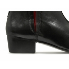 Gucinari BRUNO Mens Cuban Heel 'Red Line' Pointed Boots Black