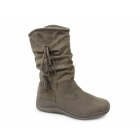 Dr Keller HELEN Womens Faux Fur Suede Boots Grey