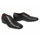 J. Bradford CAPULET Mens Leather Brogue Shoes Black