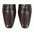 J. Bradford CAPULET Mens Leather Brogue Shoes Brown