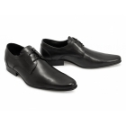 Ikon ZIGGY Mens Leather Pointed Shoes Black