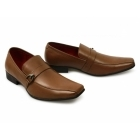 Giovanni VINCENZO Mens Faux Leather Slip On Shoes Tan