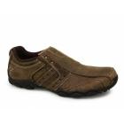 Skechers DIAMETER HEISMAN Mens Slip-On Leather Shoes Waxy Brown