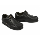 Base London STORM Mens Leather Moccasin Casual Shoes Black